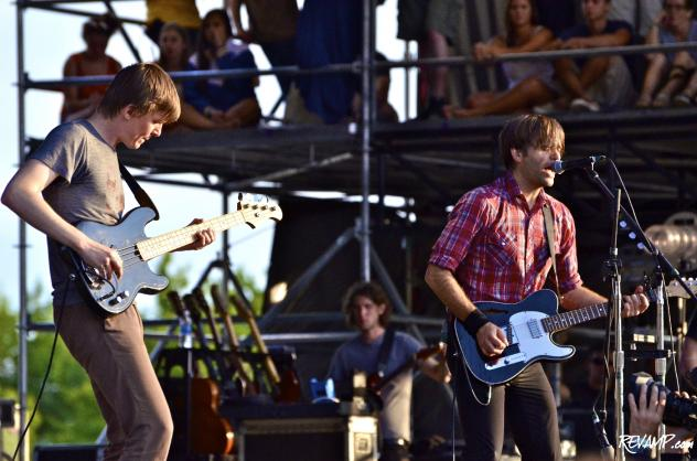Death Cab For Cutie performs at the inaugural Firefly Music Festival in Dover, DE on Sunday (Photo: Frank Wilson / REVAMP.com).